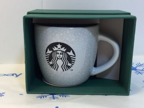 2016 Starbucks Siren White Speckled 3 OZ Ceramic Espresso Mug New Collectible