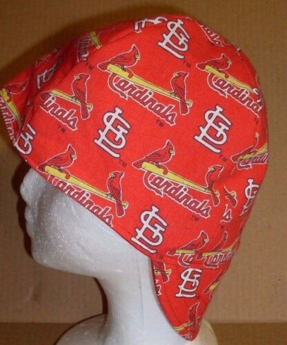MLB St Louis Cardinals 100/%cotton Welding Biker Pipe-fitter,4 panel hat