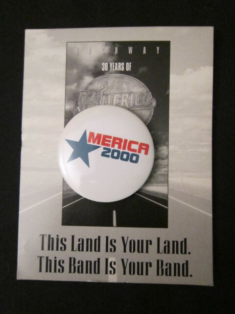 AMERICA 'HIGHWAY BOX SET' 2000 PROMOTIONAL BUTTON
