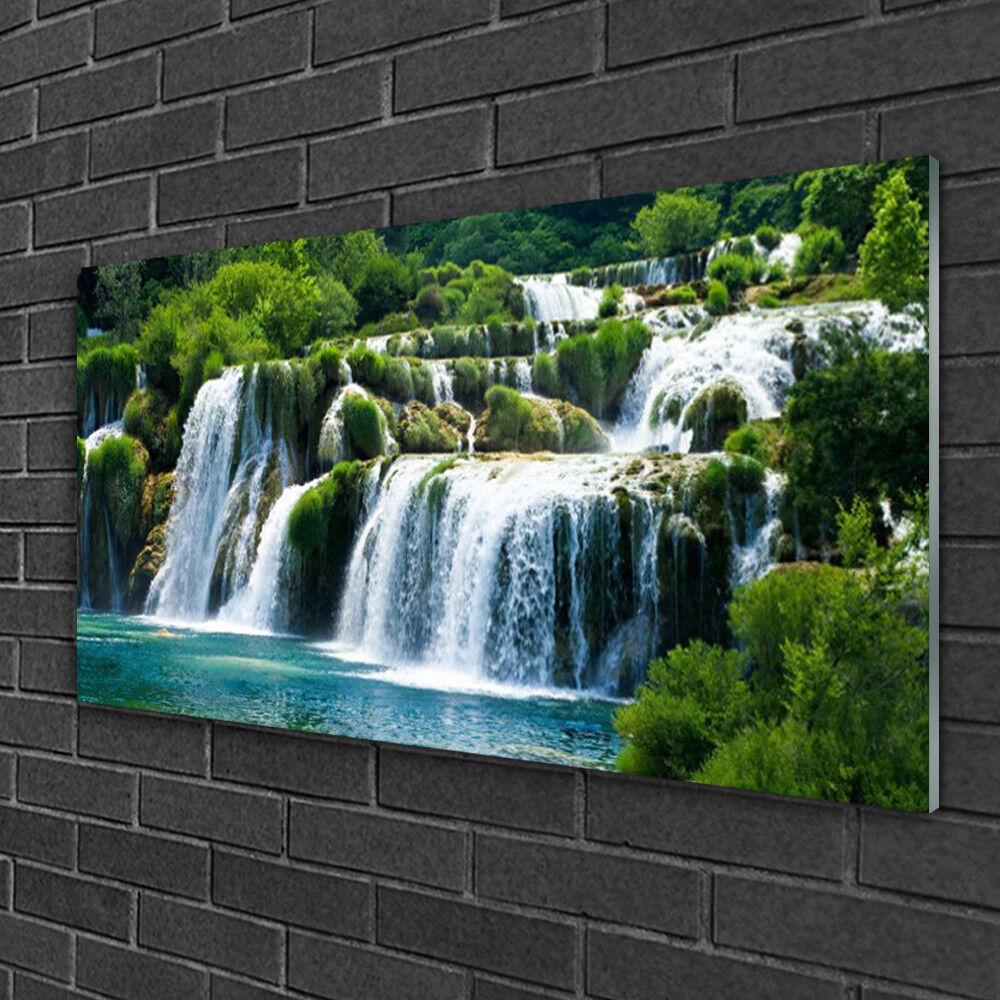 Acrylique Print Wall Art Image 100x50 photo cascade nature