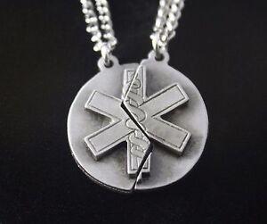 Star of life mizpah prayer necklace set christianemsnursing gift image is loading star of life mizpah prayer necklace set christianems aloadofball Images