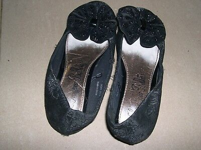 Negro Resbalón en Zapatos Talla 1