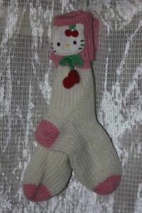 NWT-Hello-Kitty-Cream-Room-Socks-Free-Size