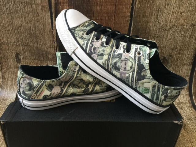 c579c2e043fbcc Converse Chuck Taylor Lo All Star Money Shoe Mens Size 10 Womens 12 ...