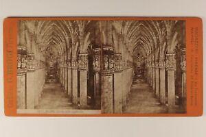 Italia-Milan-Interno-Da-La-Cattedrale-c1880-Foto-Stereo-Vintage-Albumina