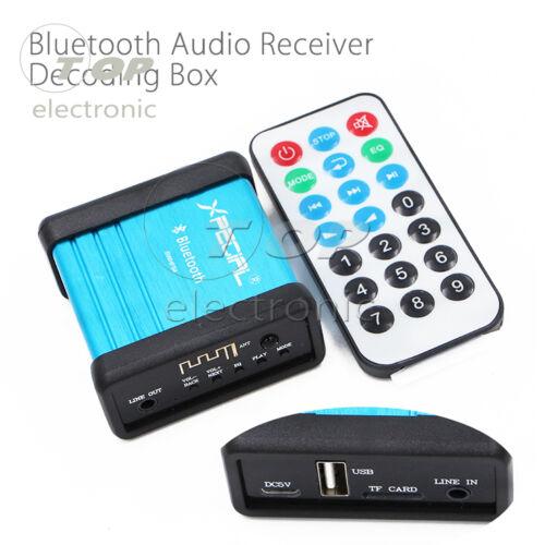 Portable Bluetooth Audio Receiver Box Amplifier Modify DIY with Remote Control