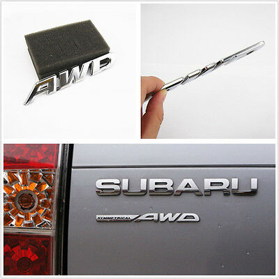 Silver Metal 3D AWD Logo Emblem Car Off-Road Tailgate Sticker 3M For Acura Honda