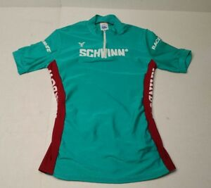 1d9a836ab Image is loading Vintage-Schwinn-Cycling-Jersey-Young-Originals-Green-Red-
