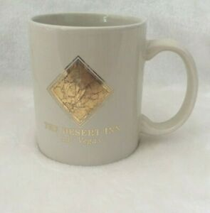 Retired-The-Desert-Inn-Las-Vegas-Mug-Cup-Coffee-Tea-Beverages-Beige-Gold-Label