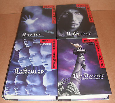 Unwind Dystology Vol.1,2,3,4 Complete Collection Neal Shusterman Hardcover NEW
