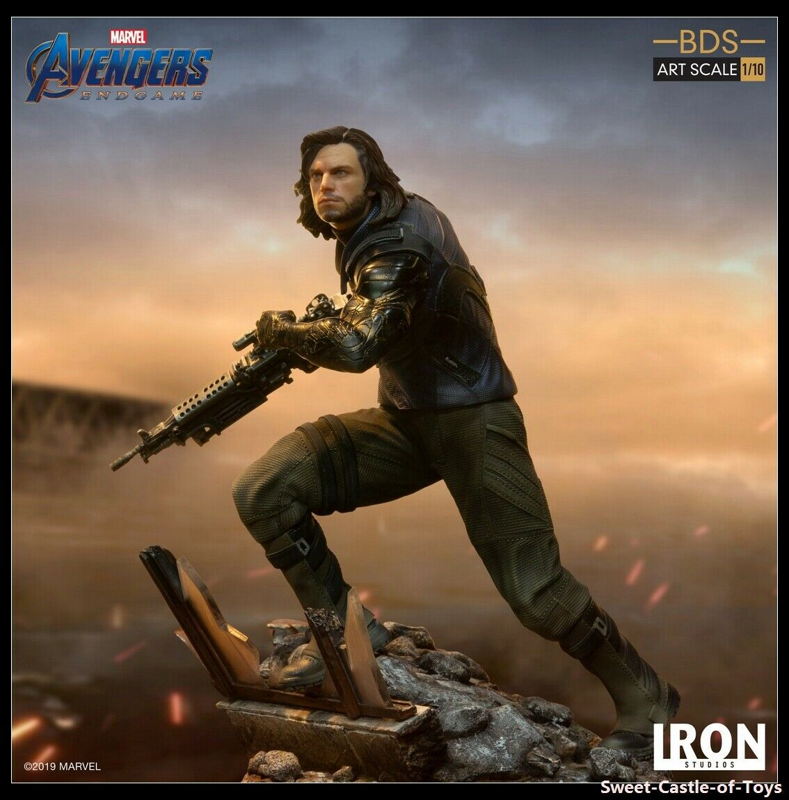 110 Iron Studios Marvel Avengers 4 mosse finali SOLDATO D'INVERNO BDS ART SCALA Statua