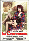 LA COMMESSA MANIFESTO CINEMA FILM GARRONE BENUSSI EROTICO 1975 MOVIE POSTER 2F