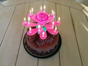 Image Is Loading 3 Lotus Candles Musical Birthday 1 Pink