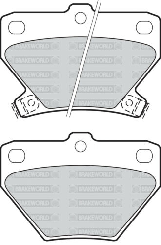OEM SPEC FRONT AND REAR DISCS PADS FOR TOYOTA COROLLA VERSO 1.8 2002-04
