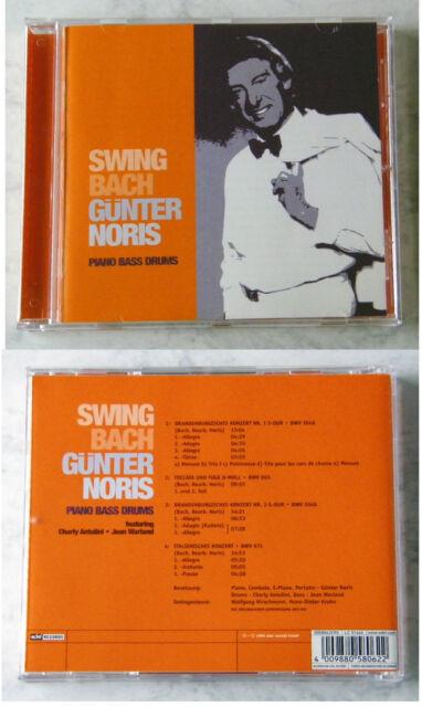 GÜNTER NORIS Swing Bach / Piano Bass Drums .. CD TOP