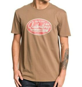 QUIKSILVER-MENS-T-SHIRT-NEW-WHAT-WE-DO-BEST-BROWN-COTTON-SHORT-SLEEVED-TOP-9W-92