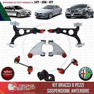 CPL. KIT BRACCI SOSPENSIONE ANTERIORE ORIGINAL BIRTH ALFA ROMEO 147 156 GT 8 PZ