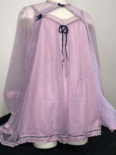 1950s Vanity Fair Tricot Nylon Pink & Navy Babydol