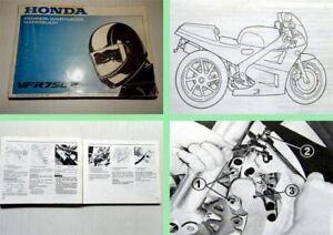 Honda-VFR750R-Motorrad-Fahrer-Wartungshandbuch-Betriebsanleitung-1987