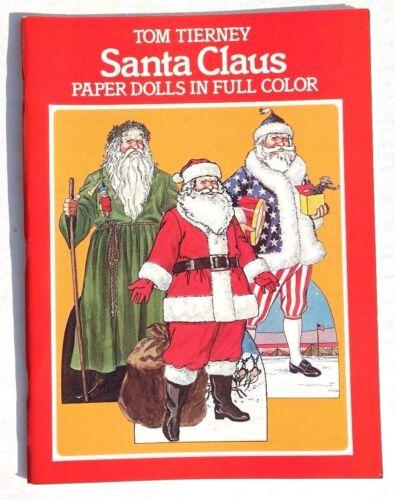 Book Vtg NEW 1983 Santa Claus Christmas Paper Doll Tom Tierney