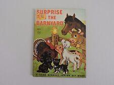 Surprise in the Barnyard Vintage Junior Elf Book 1952 Rand McNally Kids Farm