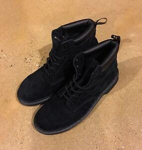 abgeholt Werksverkauf hell im Glanz Details about Dr Martens 939 Size 14 US Men's Black Soft Buck Hiker Boots  Air Wair Doc Martens