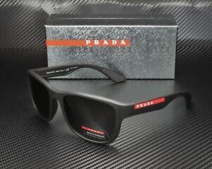 PRADA LINEA ROSSA PS 01US DG05S0 Black Rubber Grey Men's Sunglasses