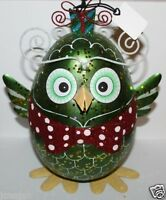 Pier 1 Imports Christmas Holiday Whimsical Metal & Wire Owl 10 Tall