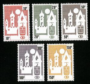 Belgium Stamps # Q466-70 VF OG NH Set of 5