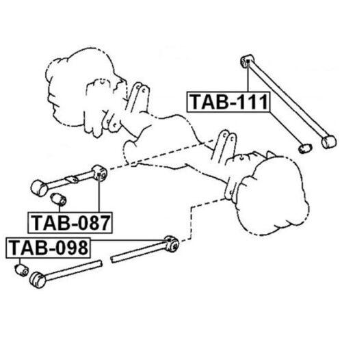 TAB-087 2 Arm Bushing Rear Track Control Rod For LEXUS LX450 TOYOTA 48702-60031