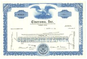 B67899-1969-STOCK-CERTIFICATE-1-share-Common-CINERAMA-INC-N-Y-CANCELLED