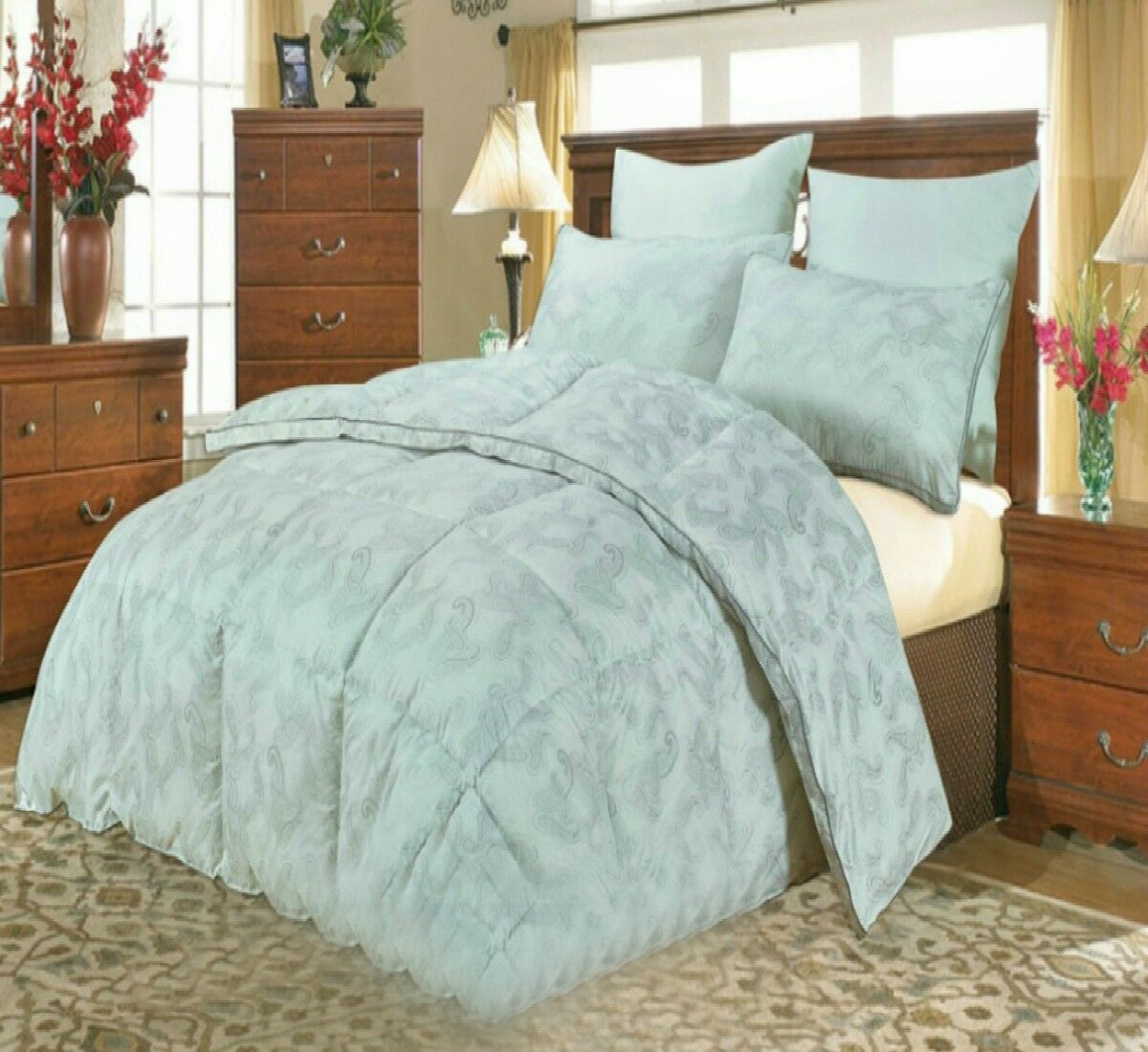 Hotel Quality Duvet Quilt Beautiful Hollow Fiber Soft Box Stitched Gusset Filled