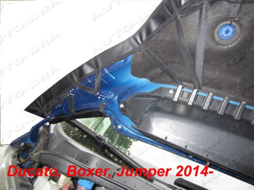STONEGUARD CARBON LOOK BONNET BRA Fiat Ducato Peugeot Boxer Citroen Jumper 2014