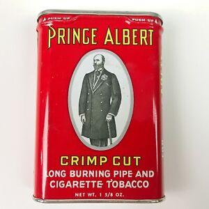 Vintage-PRINCE-ALBERT-Pocket-Tobacco-Tin-1-5-8-oz-Excellent-Condition