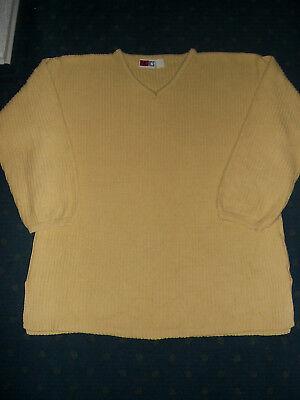Ehrlich Pullover 100% Baumwolle Gelb V-ausschnitt Gr.42 Von Basics 80er Jahre !! SorgfäLtige FäRbeprozesse
