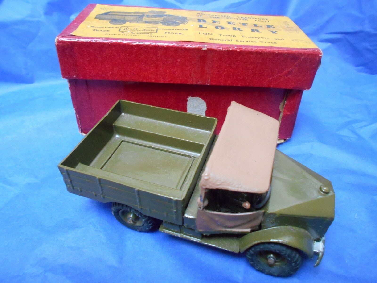 Vintage  W Britains Beetle Army Lorry with original box