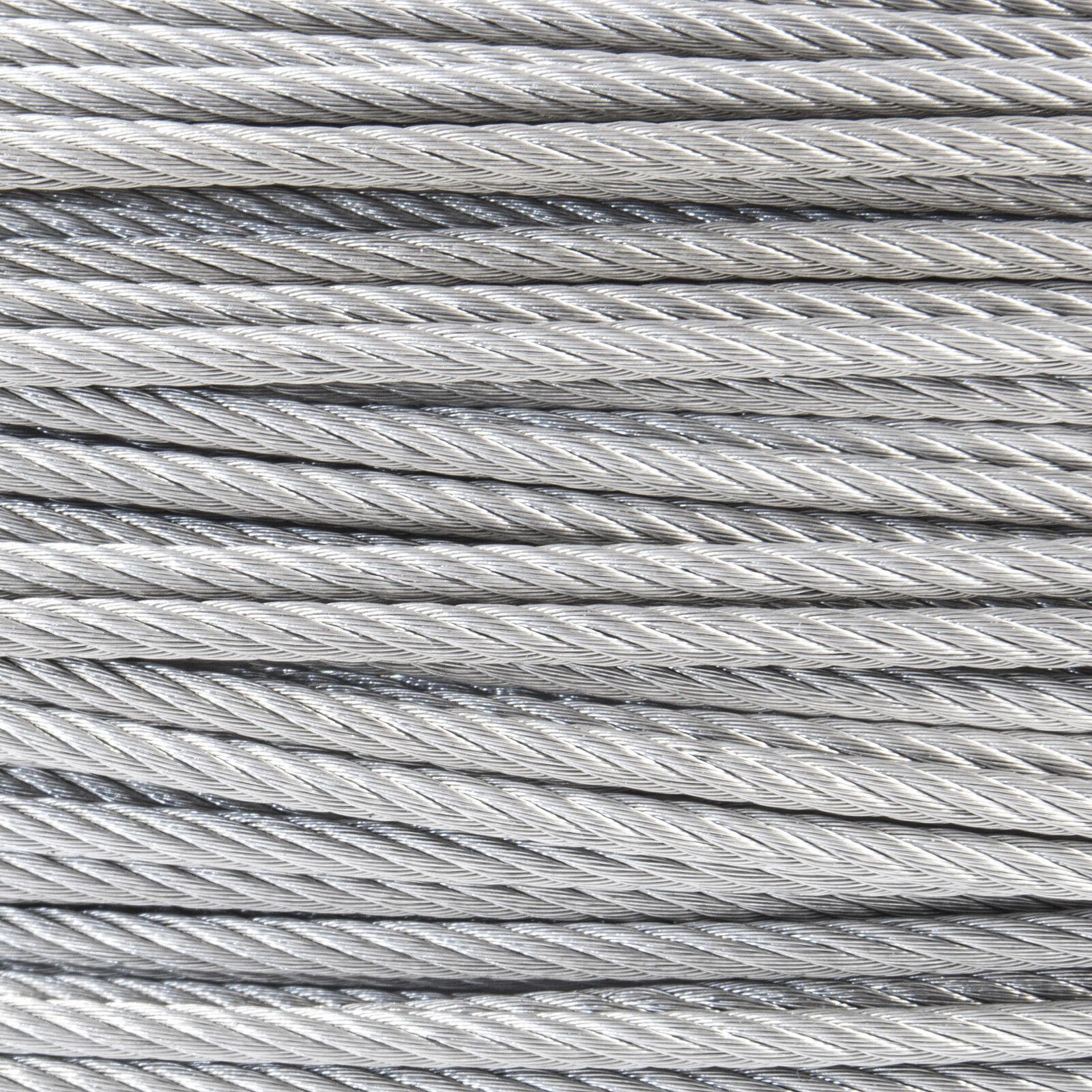 8mm FUNE ACCIAIO INOSSIDABILE filo metallo corda cavo cima V4A AISI 316