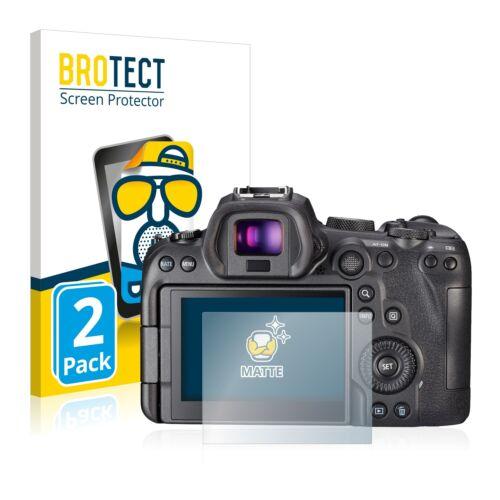 2x Display Schutz Folie für Canon EOS R6 Matt Entspiegelt
