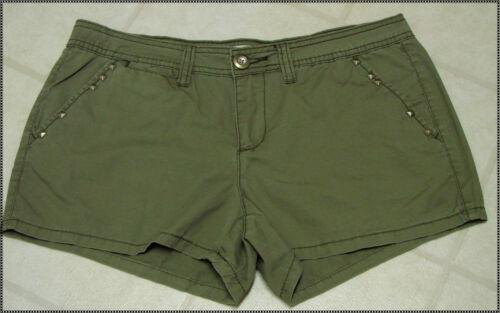 Ladies Route 66 Green Khaki Shorts NWT