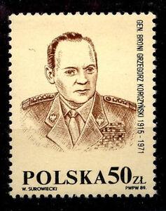 POLAND-1989-MNH-SC-50zl-NOT-RELASED-Gen-KORCZYNSKI