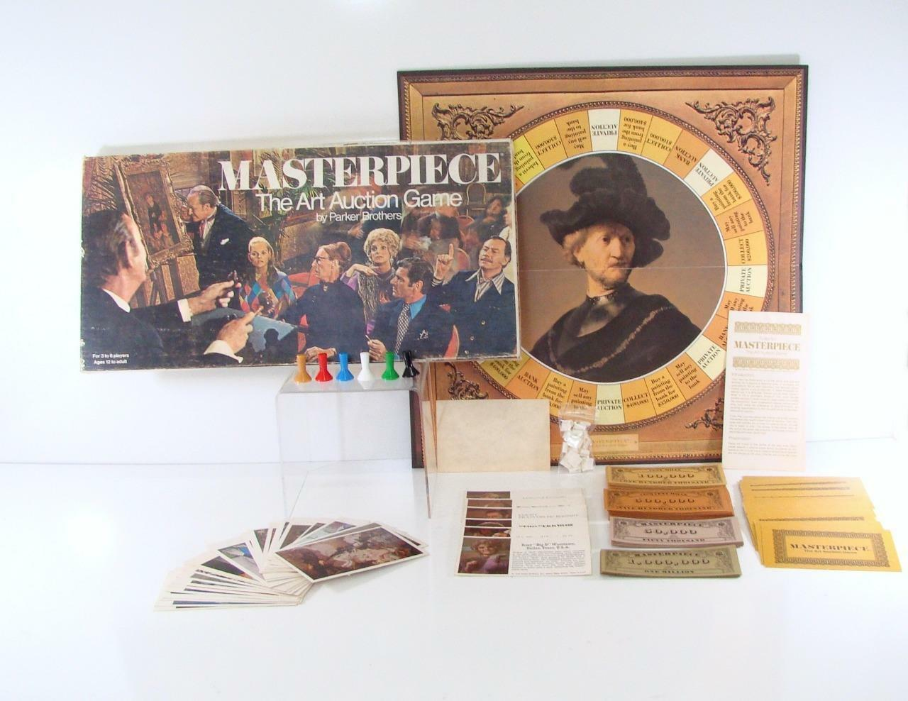 1970 MASTERPIECE THE ART AUCTION PARKER BROTHERS GENERAL MILLS  BOARD GAME