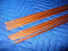 Koa solid wood guitar binding strips, 8 pieces. Slight Curl (K31807)