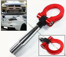 08-2016 LANCER EVO X 10 MR RED FRONT/REAR FOLDING SCREW ON STYLE RACING TOW HOOK
