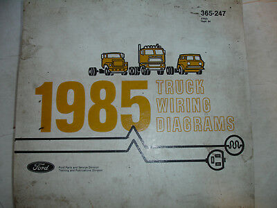 1985 Ford Truck F600 F800 Electrical Wiring Diagrams
