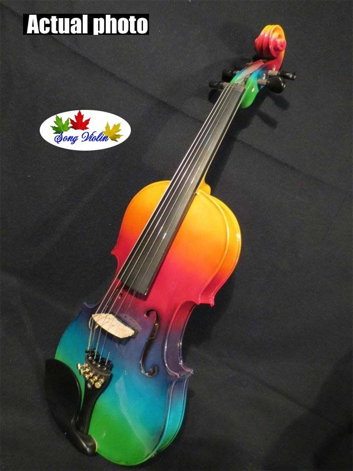 Solid wood 5 strings violin 4 4 colorful electric violin & acoustic