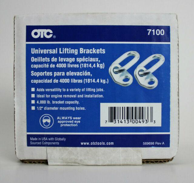 OTC 7100 Universal Lifting Brackets 4000 LBS 1/2 inch Diameter