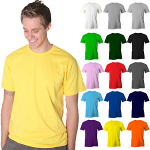 Mens-Plain-100-Cotton-T-shirt-Blank-Basic-Adults-Tee-Size-S-5XL-Plus-SIze-Men