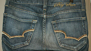 Womens-Big-Star-Buckle-SWEET-BOOT-LOW-JEANS-SZ-24-28X30