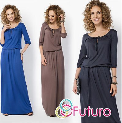 Liefern Womens Evening Maxi Dress 3/4 Sleeve Scoop Neck Full Length Plus Sizes 8-18 Fm20