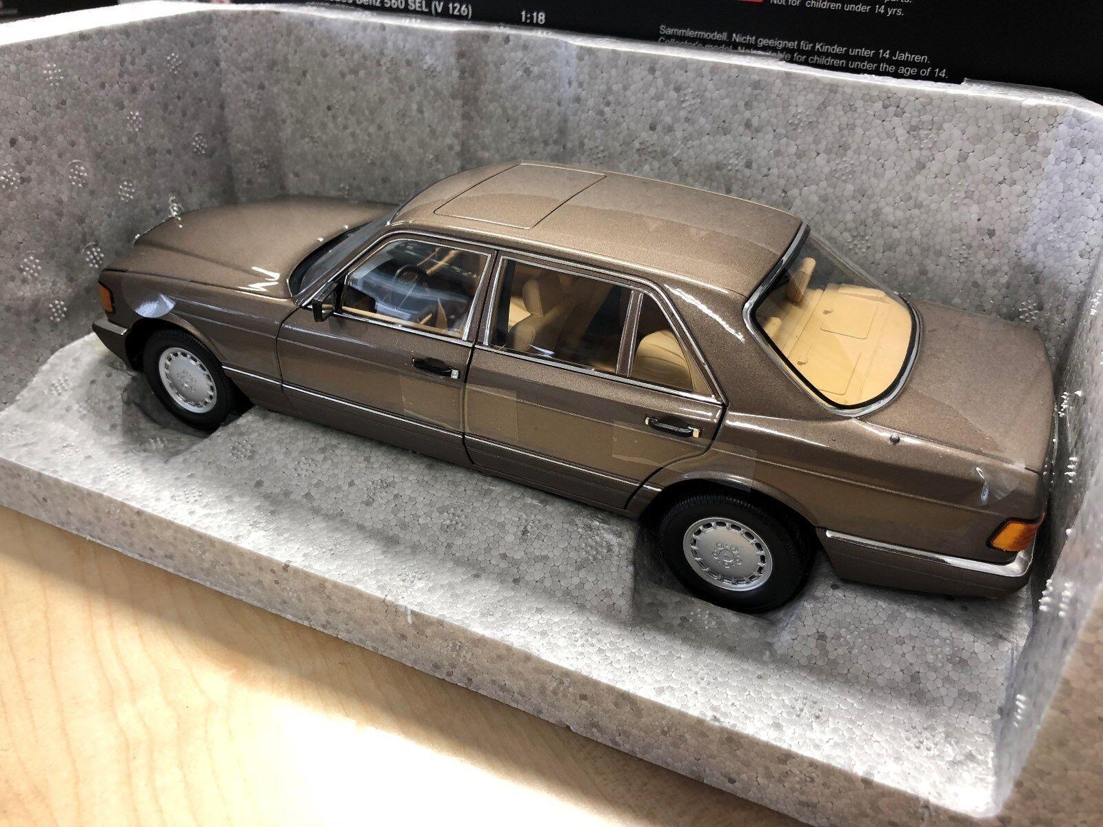 Mercedes Benz, 560 SEL, W126, 1985-1991, 1 18 Modelauto, Impala braun, Norev